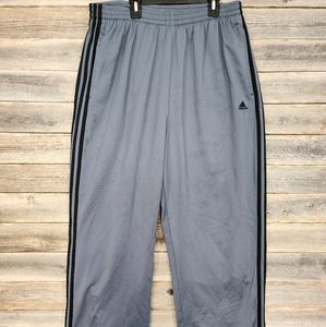 Adidas Men's Grey & Black Track Pants